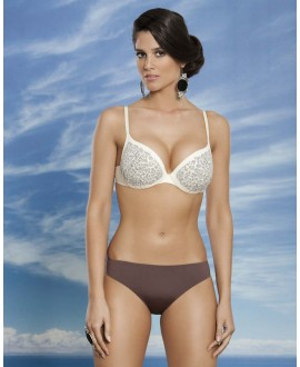 Bikini with finest embroidery and Swarovski combination on push-up cup with padding